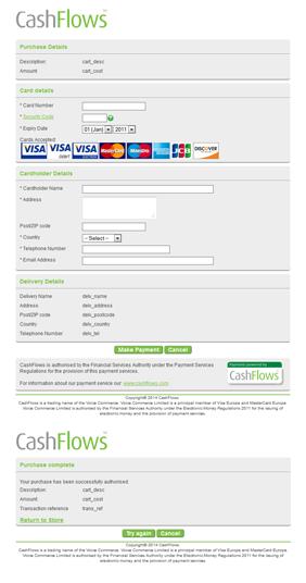 Default payment page design